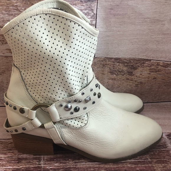 2ae3a580be twiggy LONDON Shoes | Leather Slip Studded Western Booties | Poshmark